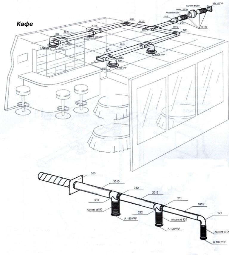 Схема вентиляции дома.